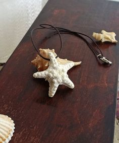 White Starfish Necklace Handmade From Polymer by EvasCreationsShop Starfish Earrings, Mermaid Jewelry, White Sea, Turquoise Glass, Craft Show Ideas, Summer Jewelry, Kauai, Handmade Necklaces, Color Mixing