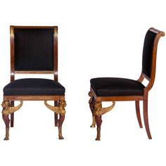 Pair of Second Empire Side Chairs | From a unique collection of antique and modern chairs at http://www.1stdibs.com/furniture/seating/chairs/