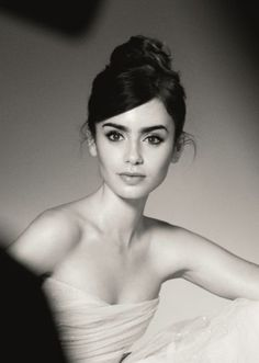 Lily Collins. This is seriously one of the most beautiful pictures ever.