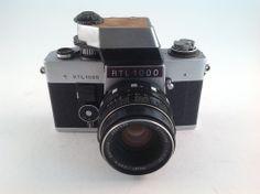 EXAKTA RTL 1000 CAMERA SLR 35mm FILM + TTL PRISM + MEYER OPTIKORESTON 1.8/50mm