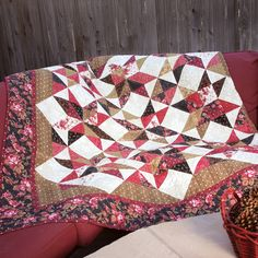 Country Getaway Throw Quilt Pattern 69 x by marcellassewing Quilting Tutorials, Quilting Projects, Mccall's Quilting, Lap Quilts, Quilt Blocks, Lap Quilt Patterns, Fat Quarter Quilt, Quilted Table Runners, Quilt Kits