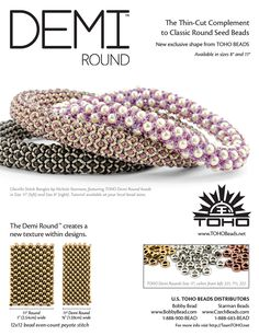 Starman Bead Blog – News of the Bead World: Pre-Order the Demi Round™ from TOHO BEADS