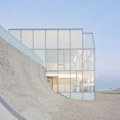 """Museum of Ocean and Surf: Location: Biarritz, France Architects: Steven Holl Architects + Solange Fabiao Area: 50859.0 ft2 Project Year: 2011 Curvy translucent building raises the awareness of oceanic issues and allows the users to explore the concept, """"under the sky/under the sea""""."""