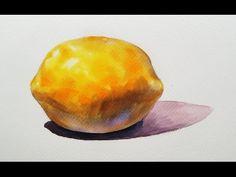 Foundation Course in Watercolor 1 - Yellow Lemon  基礎水彩示範 - 黃檸檬 - YouTube