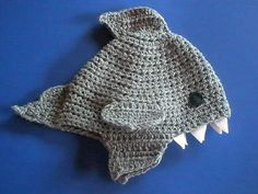 Shark Hat-newborn to adult-made to order