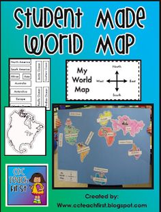 Lots of good ideas for teaching map skills! For sure using this in my social studies unit this semester! Good for continents Teaching Map Skills, Teaching Maps, Teaching Geography, Teaching Ideas, Geography Lessons, Student Teaching, Teaching Resources, Geography Activities, Social Studies Activities