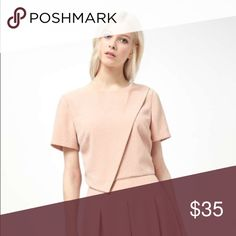 {Miss Selfridge} Asymetrical Crepe Top Designer: Miss Selfridge  Line: Color: Pale Pink  Approx Measurements: Material: Condition: NWT  Notes: Miss Selfridge Tops Crop Tops