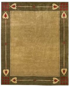 Highland Park design rug from today's Stickley.  I'd love a rug like this for a dining room.