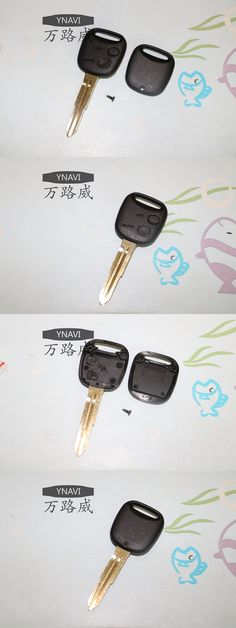 Free Shipping 2017 Hotsale Car Key With 2 Buttons Fob Replacement Case Blank Cover Remote Key Shell for Daihatsu Toyota