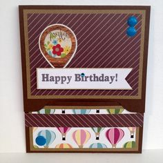 Popup Birthday Giftcard Holder with Hot Air by BirthdayCardCentral