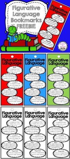 These are great for the kids to use when they are reading to identify which figurative language they are reading or they are a great cheat sheet to use when writing.   You can print in color or black/white to save ink. Let the kids color their own.  I would recommend printing on card stock and then laminating. Use a hole punch to cut out the hole, add a ribbon or yarn to decorate.  Follow me on TPT for more fun, exciting products and FREEBIES. All new products are 50% off for the first 24…