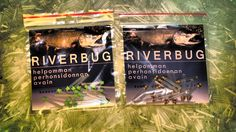 RiverBug Tube Fly sleeves. Lime Green and Brass versions.  www.riverbug.fi