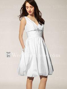 Simple Short Wedding Dresses,Beach Wedding Dress