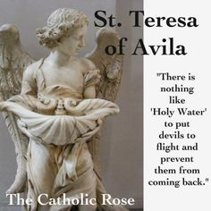 Teresa of Avila.SO TRUE! Even former devil worshipers who have converted to Catholicism can attest to this. Catholic Saints, Roman Catholic, Prayers Of The Saints, Saint Teresa Of Avila, St Clare's, D Avila, Religious Pictures, Catholic Quotes, Saint Quotes