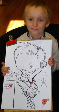 On the spot caricature of young boy at HSBC