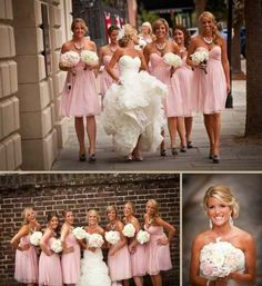 I love her dress and the bridemaids style of dresses!