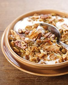 Farmhand's Choice Granola -Martha Stewart...This delicious granola recipe is courtesy of Nekisia Davis of Early Bird Foods.