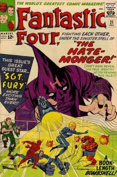 Fantastic Four #21. The first appearance of the Hate-Monger.  #FantasticFour #HateMonger