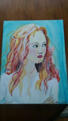 beautiful girls acrylic on canvas by Lydia Sutton