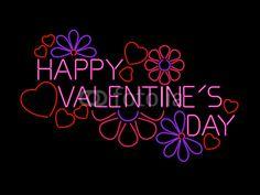happy valentines day neon