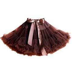 YSJ Women's Pettiskirt 3-Layered Tutu Chiffon Petticoat Pleated Mini Skirt