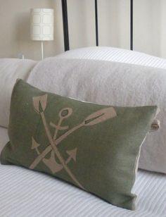 Anchor n' Oars pillow   (beach house)