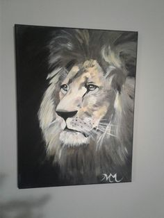 Lion acrylic canvas painting