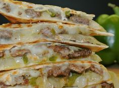 These EASY Cheese Steak Quesadillas from Easy Peasy Pleasy are a dinner dream come true! It doesn't get much easier than cooking up some delicious steak and peppers and throwing it on a tortilla with (Easy Cheese) Mexican Dishes, Mexican Food Recipes, Beef Recipes, Cooking Recipes, Recipes With Steak, Steak Dinner Recipes, Recipies, Quesadilla Recipes, Leftover Steak Quesadilla Recipe