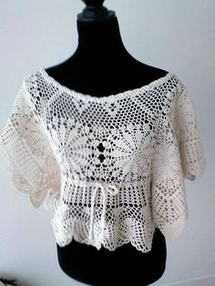 Recycled crochet sweater