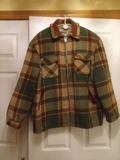 1960s - 1970s Woolrich Suade Collar lined Jacket Americana End of Season Clearance sale on Etsy, $69.00