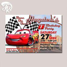 Lightning Mcqueen Cars Movie Birthday Party Card Digital Invitation Kid  Birthdayu2026 EinladungenEinladungen ...
