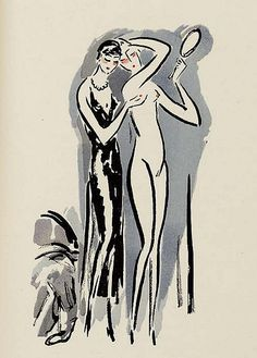 Kees van Dongen - 1925; illustration for La Garconne