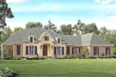Flexible French Country with Bonus Room - 51727HZ | 1st Floor Master Suite, Bonus Room, Butler Walk-in Pantry, CAD Available, Corner Lot, European, French Country, MBR Sitting Area, Metric, PDF, Southern, Split Bedrooms | Architectural Designs