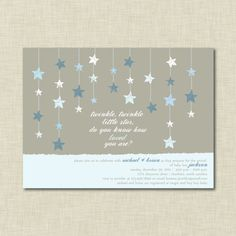 Twinkle Twinkle Little Star Blue Baby Shower by AmberMangle
