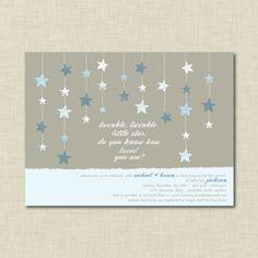 Twinkle Twinkle Little Star Blue Baby Shower by AmberMangle