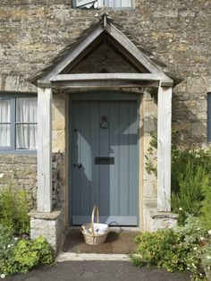 Nice period front door showing our pewter patina door furniture Letter plate an Nice period front Cottage Front Doors, Oak Front Door, Front Door Porch, Cottage Porch, Porch Doors, Front Door Entrance, House Front Door, Cottage Exterior, Front Door Colors