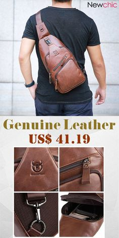 【Buy Now】Genuine Leather Large Size Chest Bag Sling Bag Single-shoulder Crossbody Bag. 【Buy Now】Genuine Leather Large Size Chest Bag Sling Bag Single-shoulder Crossbody Bag. Leather Shoulder Bag, Leather Bag, Cheap Crossbody Bags, Minimalist Bag, Well Dressed Men, Online Bags, Leather Working, Bag Sale, Men's Fashion