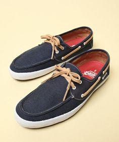 Vans Chauffeur Navy Blue & Tan Boat Shoe