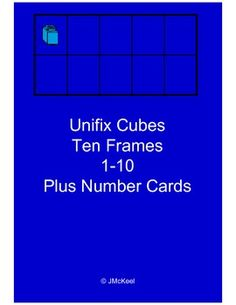 Freebie! This file contains blue unifix cube themed ten frame cards and number word cards for numbers 1-10.