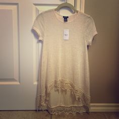 High Low Shirt Lace and see through high low shirt never worn and new with tags Rue 21 Tops Crop Tops