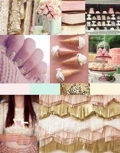Bridal Shower Inspiration: Pale Pink & Gold Ice Cream Parlour