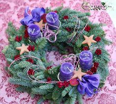 adventi koszorú (20cm) Advent, Christmas Wreaths, Holiday Decor, Home Decor, Christmas Swags, Room Decor, Home Interior Design, Decoration Home, Christmas Garlands