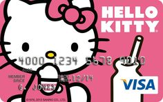 HK |❣| HELLO KITTY Visa Platinum Reward Card - One of Five Customized Card Designs