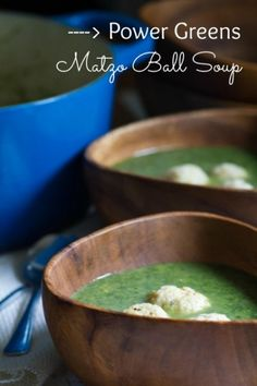 Power Greens Matzo Ball Soup