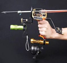 HBG Powerful Pro Fishing Slingshot Reel Catapult Archery Bowfishing Arrows Slingbow with Arrow Brush ,Fishing Reel ,Fishing Reel Rack,Flashlight Slingshot Fishing, Fishing Reels, Fishing Tips, Bow Fishing, Kayak Fishing, Archery Set, Archery Arrows, Archery Hunting, Camping Survival