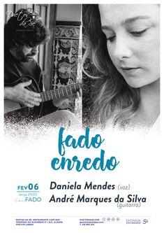 """""""Duetos da Sé"""", #Alfama #Lisboa #Lisbon- TERÇA-FEIRA 6 DE FEVEREIRO 2018 – 21H30 CONCERTO """"IN FADO"""" - """"FADO ENREDO"""" - Daniela Mendes (voz) & André Marques da Silva (guitarra) - """"Fado Enredo"""" narra a história das influências que o Fado chamou para si e a forma como foi contaminando os vários personagens com quem se cruza ao longo da trama. A saudade no Samba, na Bossa, nos Ritmos de África ou na Canção Portuguesa compõem a intriga..."""