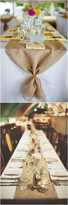 Rustic Burlap Reception Decor   #wedding #weddingideas #countryweddings
