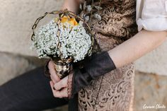Unique same sex wedding in the German countryside with 'First Non-Look photos', the brides who made all the decorations including their own outfits and steampunk cake! Vintage Diy, Steampunk, Germany, Bride, Floral, Photography, Wedding, Fashion, Fotografie