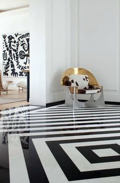 Graphic floor design