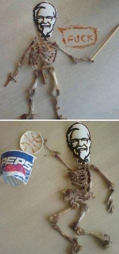 2 funny chicken bones pictures